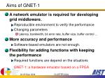 aims of gnet 1
