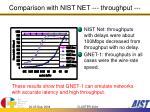comparison with nist net throughput