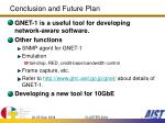 conclusion and future plan