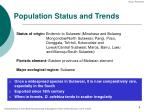 population status and trends