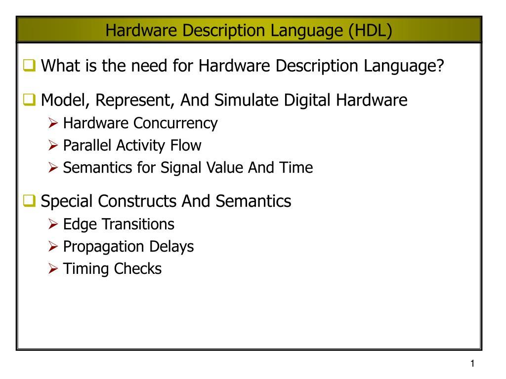 hardware description language hdl l.