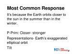 most common response