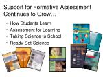 support for formative assessment continues to grow