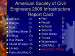 american society of civil engineers 2009 infrastructure report card