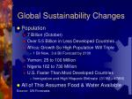 global sustainability changes