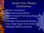issues from recent conferences
