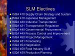 slm electives