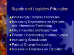 supply and logistics education