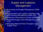 supply and logistics management