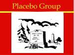 placebo group