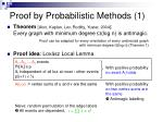 proof by probabilistic methods 1