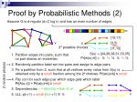 proof by probabilistic methods 2