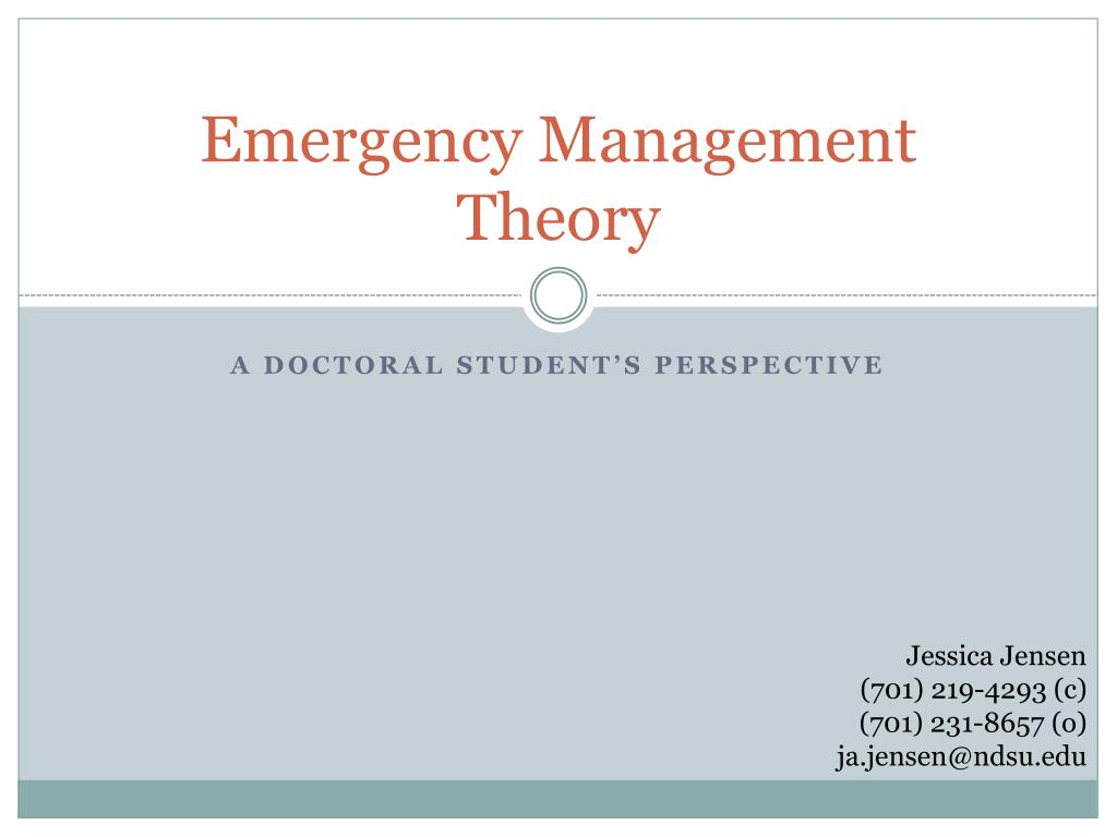 emergency management theory l.