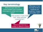 key terminology6