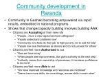 community development in rwanda