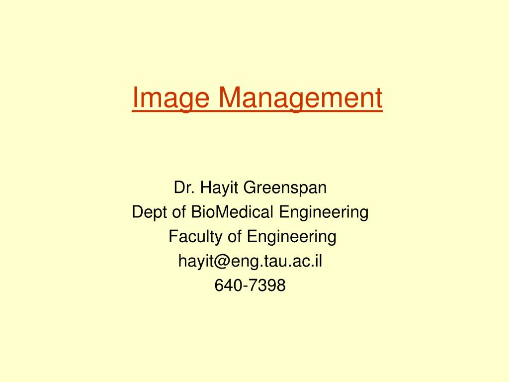 image management l.