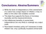 conclusions alesina summers