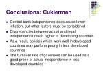 conclusions cukierman
