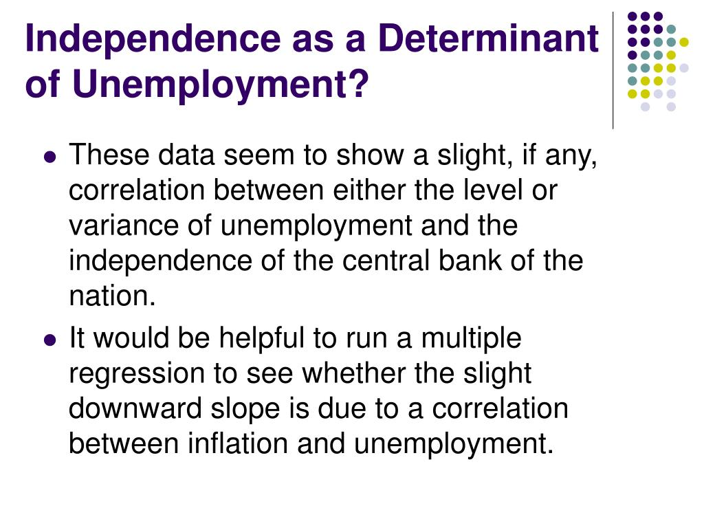 Independence as a Determinant of Unemployment?