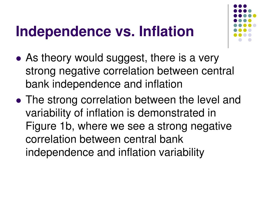 Independence vs. Inflation