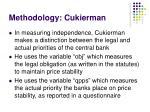 methodology cukierman
