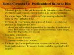 raz n correcta 1 predicando el reino de dios
