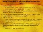raz n correcta 4 predicando el bautismo para ser salvo