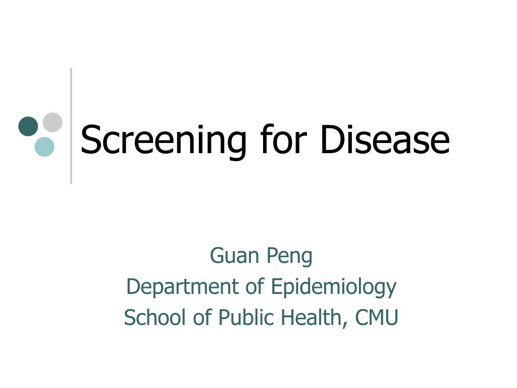 screening for disease l.