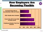 how employers are becoming flexible