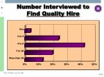 number interviewed to find quality hire