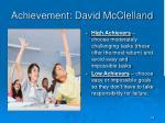 achievement david mcclelland