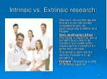 intrinsic vs extrinsic research