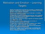 motivation and emotion learning targets