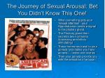 the journey of sexual arousal bet you didn t know this one