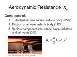 aerodynamic resistance r a