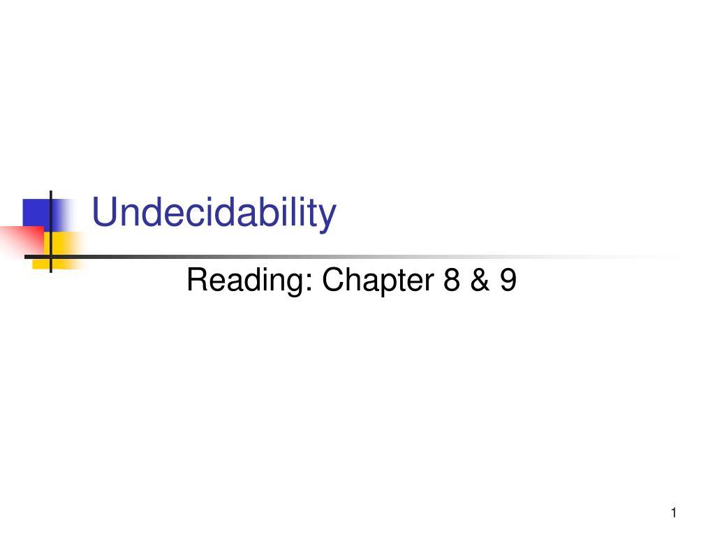 undecidability l.