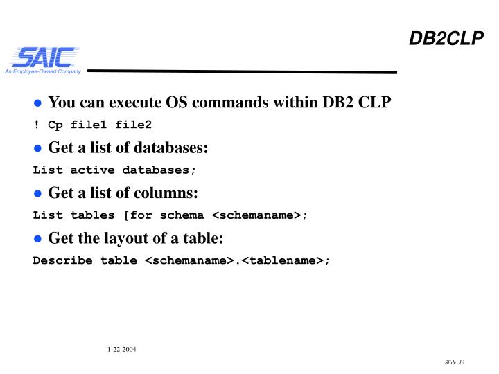 PPT - Informix and DB2 an SQL Perspective PowerPoint