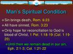 man s spiritual condition