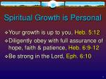 spiritual growth is personal