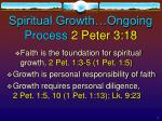 spiritual growth ongoing process 2 peter 3 18