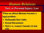 tort or personal injury law