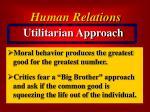 utilitarian approach