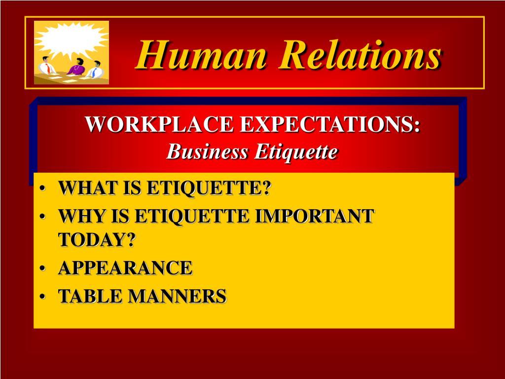 workplace expectations business etiquette l.