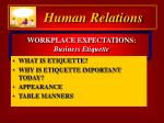 workplace expectations business etiquette