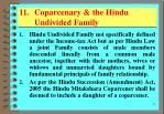 11 coparcenary the hindu undivided family
