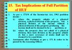 15 tax implications of full partition of huf