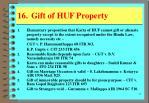 16 gift of huf property