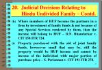 20 judicial decisions relating to hindu undivided family contd