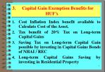 3 capital gain exemption benefits for huf s