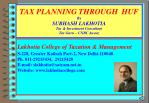 tax planning through huf by subhash lakhotia tax investment consultant tax guru cnbc awaaz